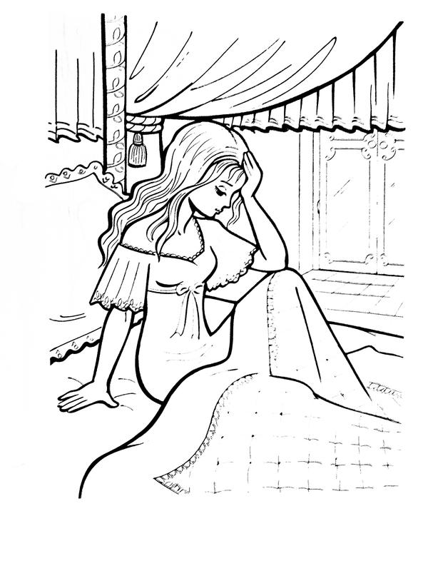 Принцесса на горошине нарисованные картинки