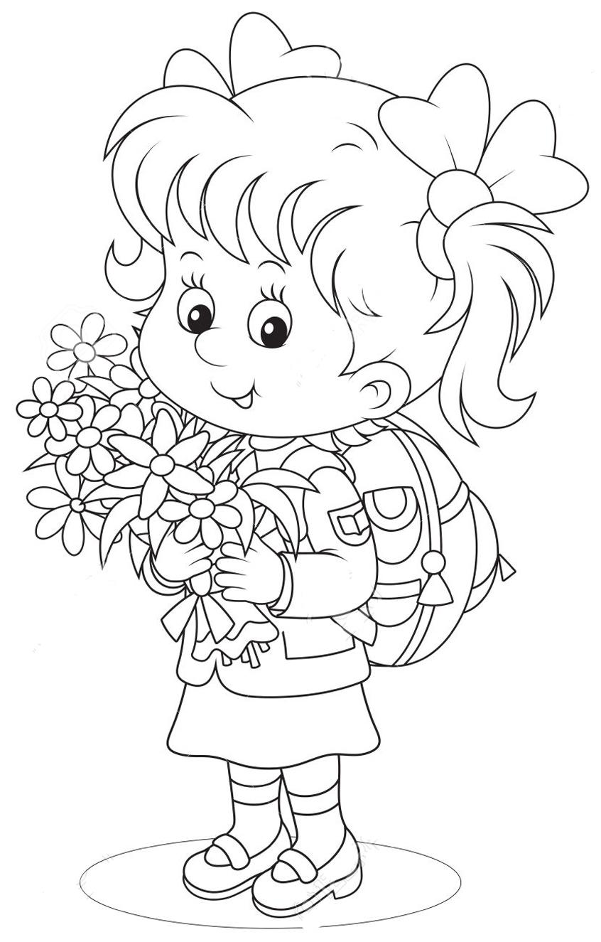 Первоклассник раскраска для детей