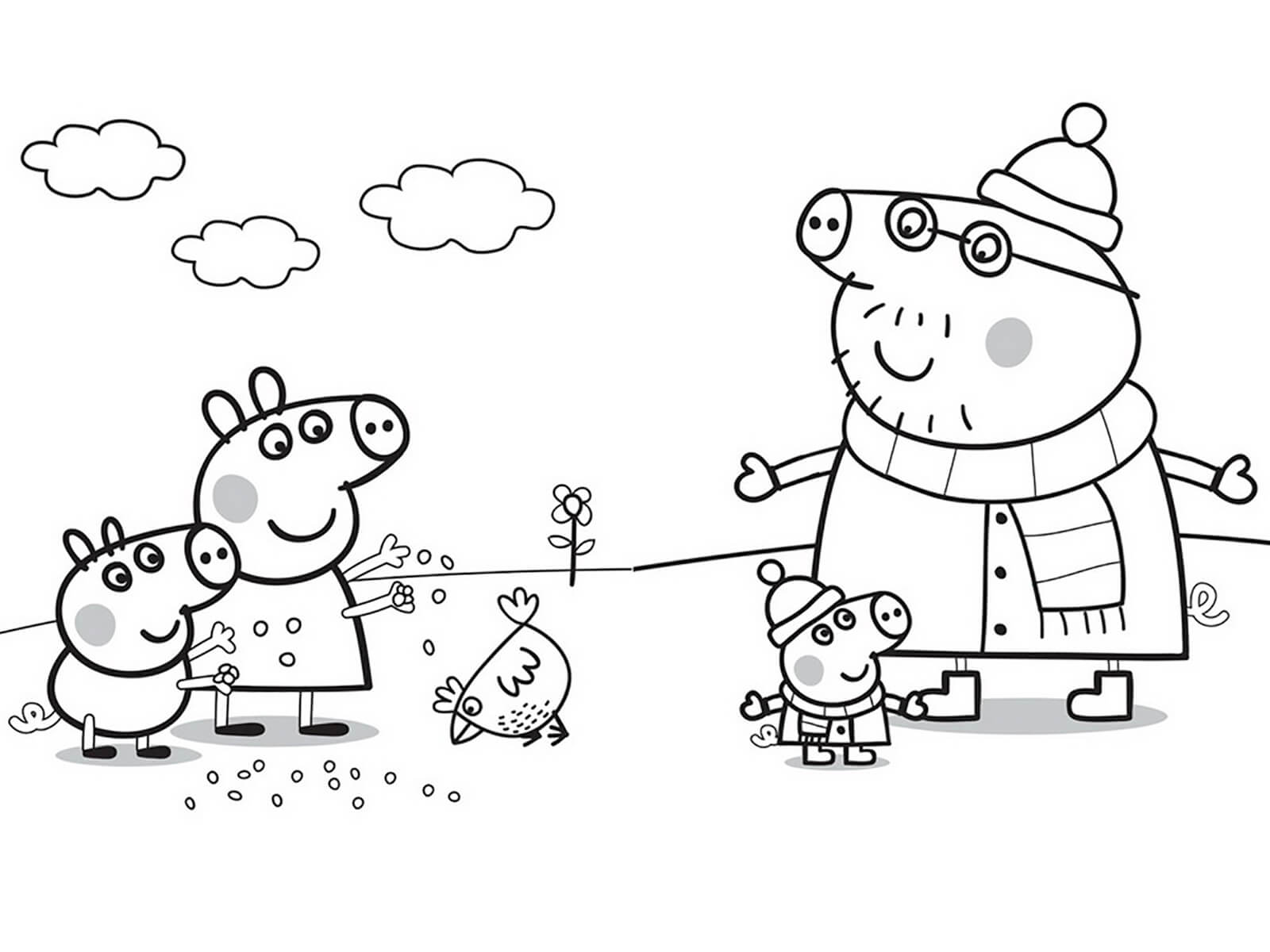 Раскраска свинки пепы онлайн