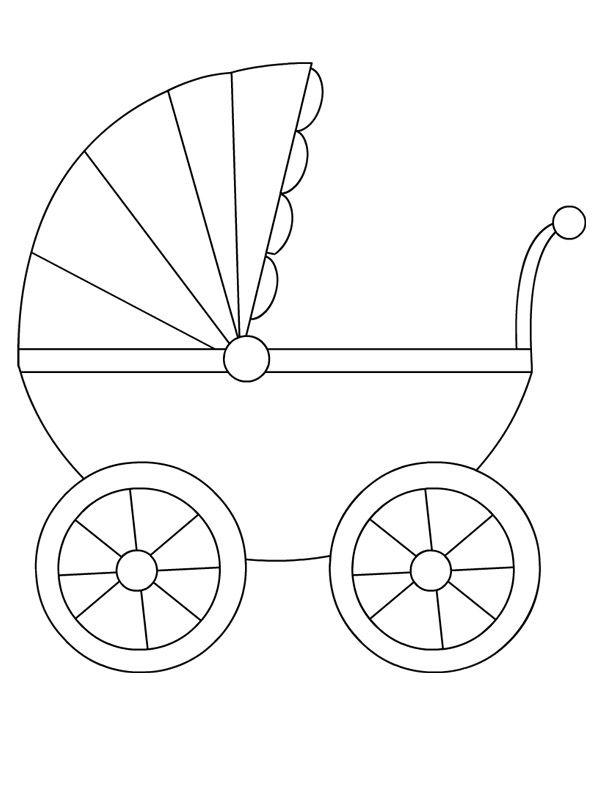 Шаблоны коляска открытка