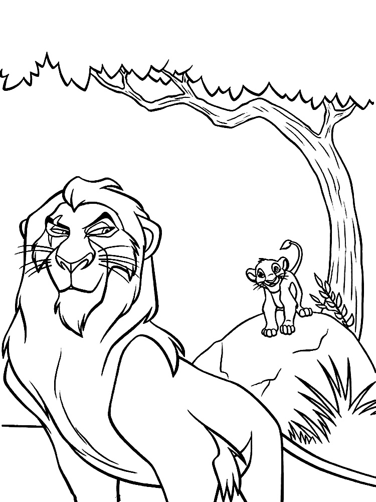 Simba lion king coloring