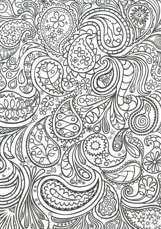 Сложный узор раскраска
