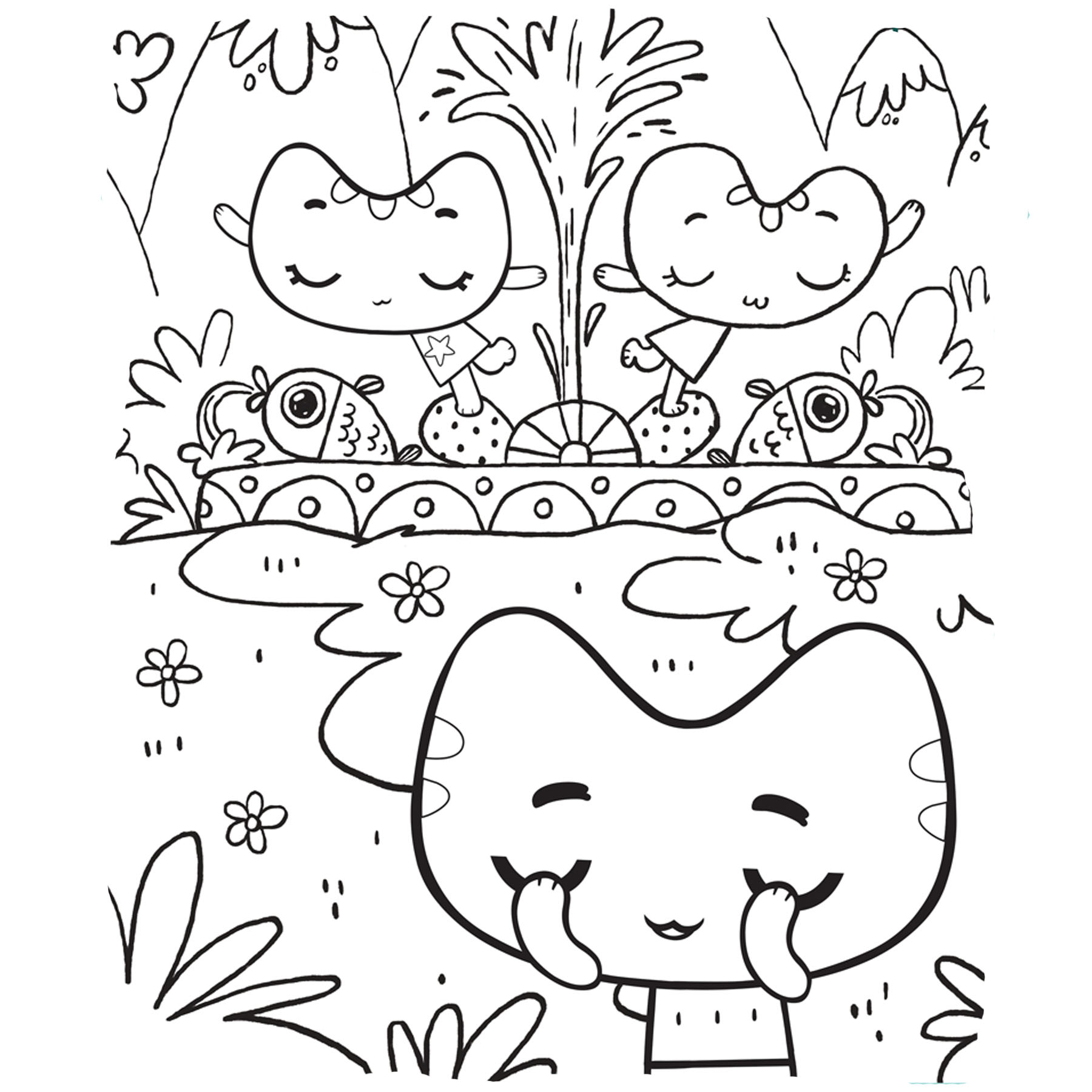 Котики вперед раскраска - детские раскраски распечатать ...
