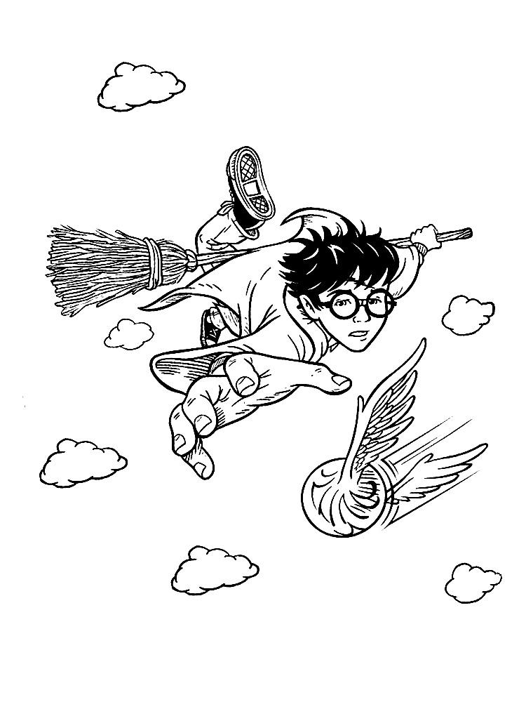 Раскраски Гарри Поттер - детские раскраски распечатать ...