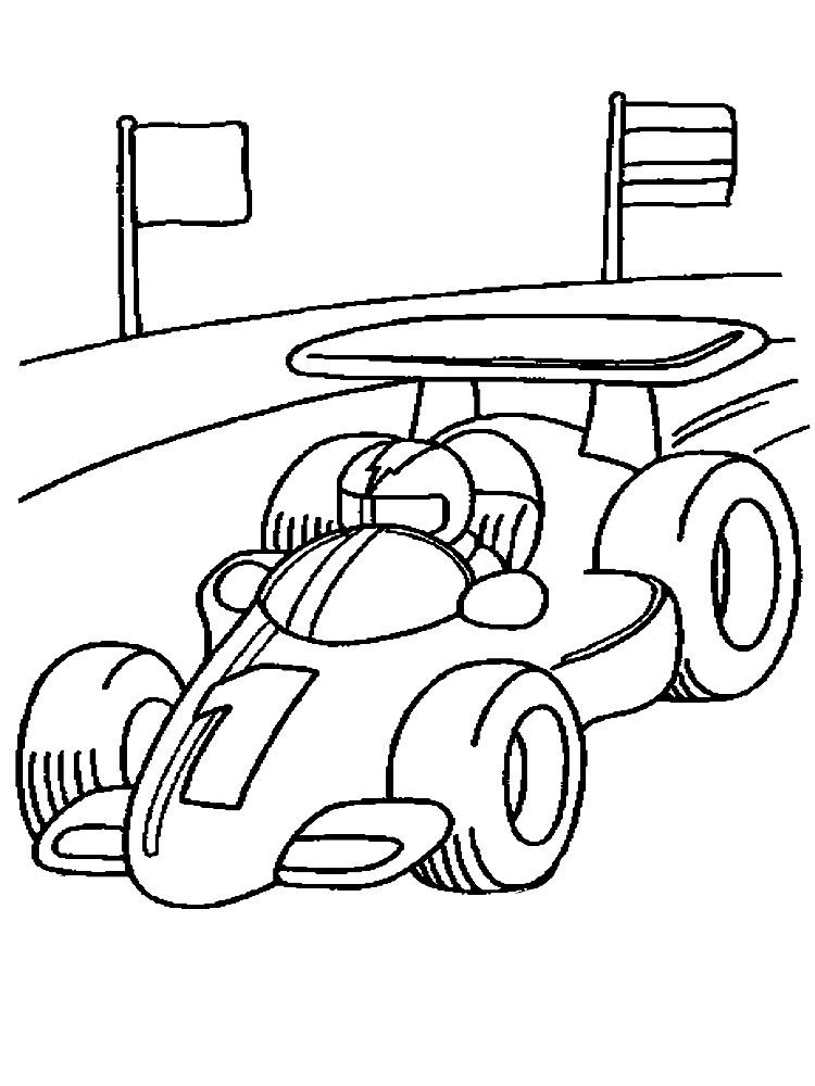 Детские рисунки гонки