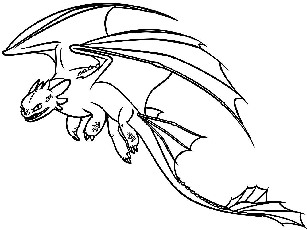Раскраски дракончика