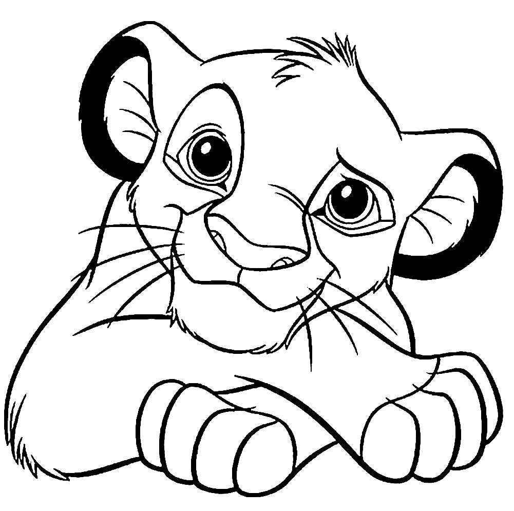 Раскраски Король Лев - детские раскраски распечатать бесплатно