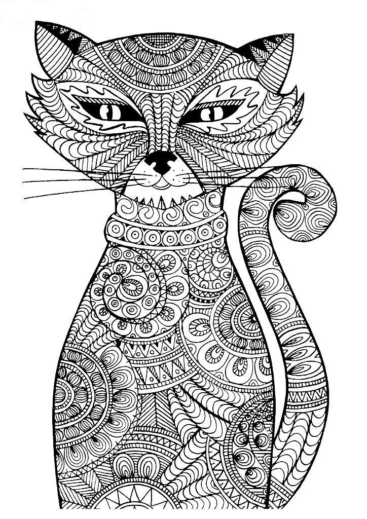 сложные раскраски животные раскраски распечатать бесплатно