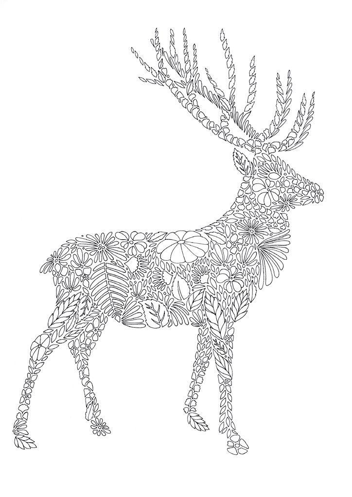 Сложные раскраски животные - раскраски распечатать бесплатно