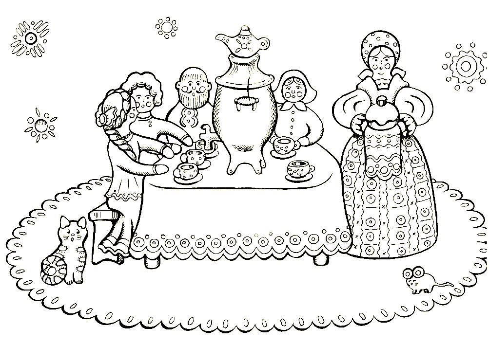 Русские праздники картинки раскраски, открытки английском картинки