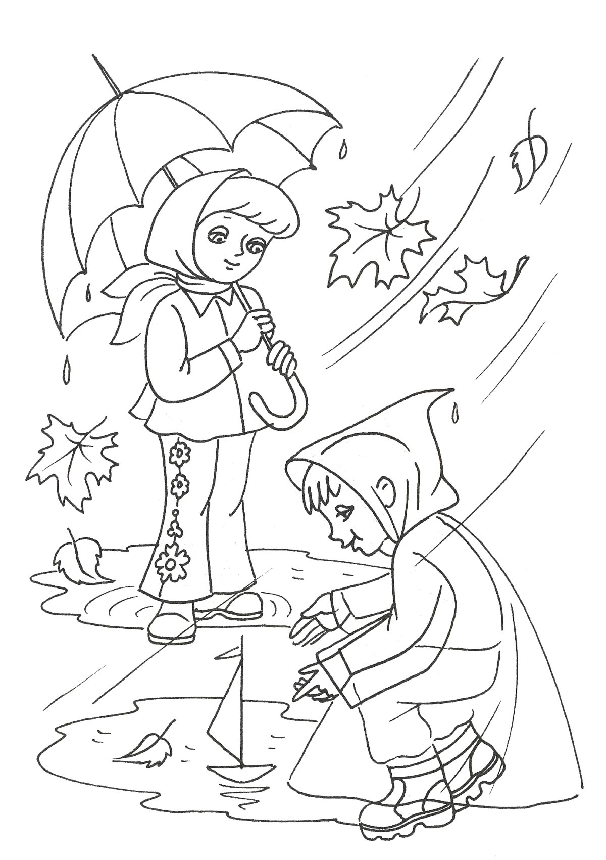 Раскраски на тему осень - 10