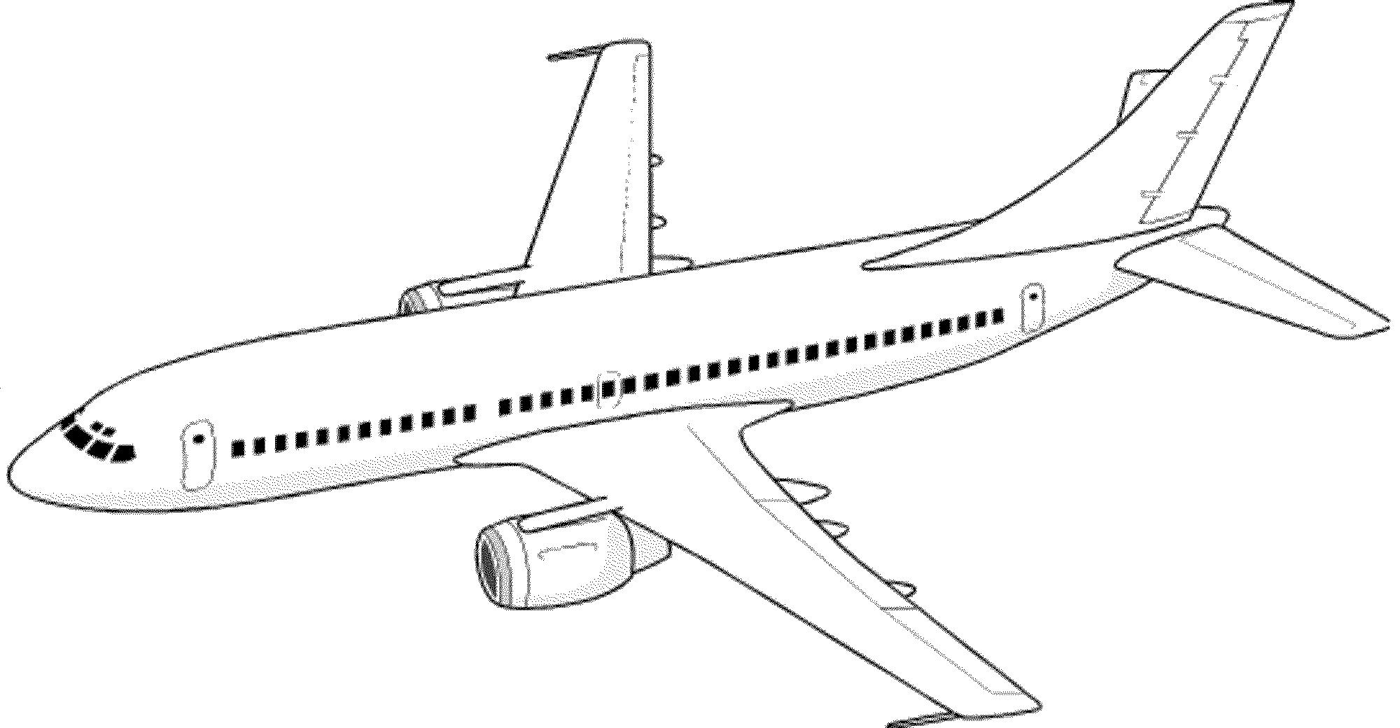 облик самолет черно белый рисунок отделке балкона кирпичной