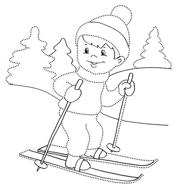 Снежинка картинка для детей раскраска