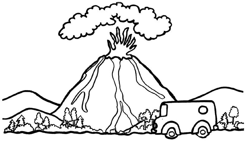 Картинки извержение вулкана для детей