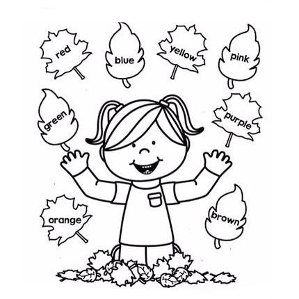 Раскраски Цвета на английском - детские раскраски ...