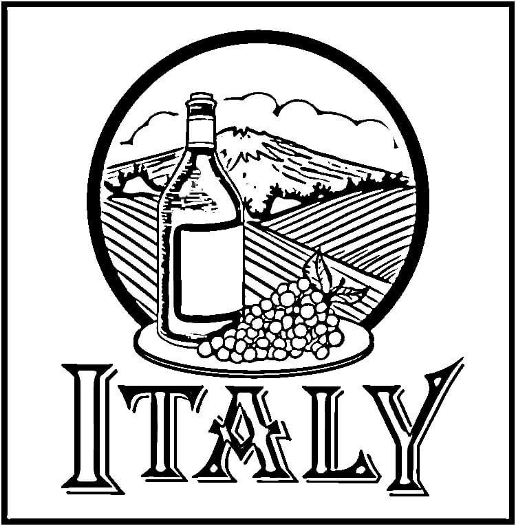 Картинки италия раскраски