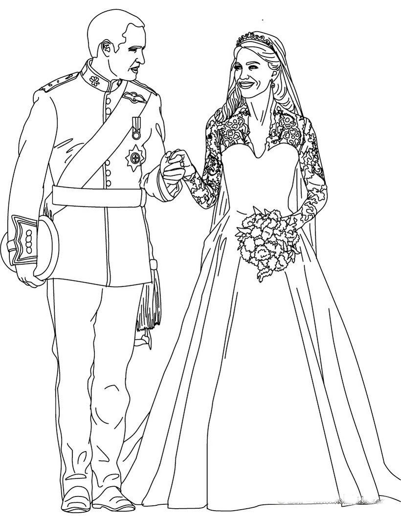 Свадебные картинки раскраска