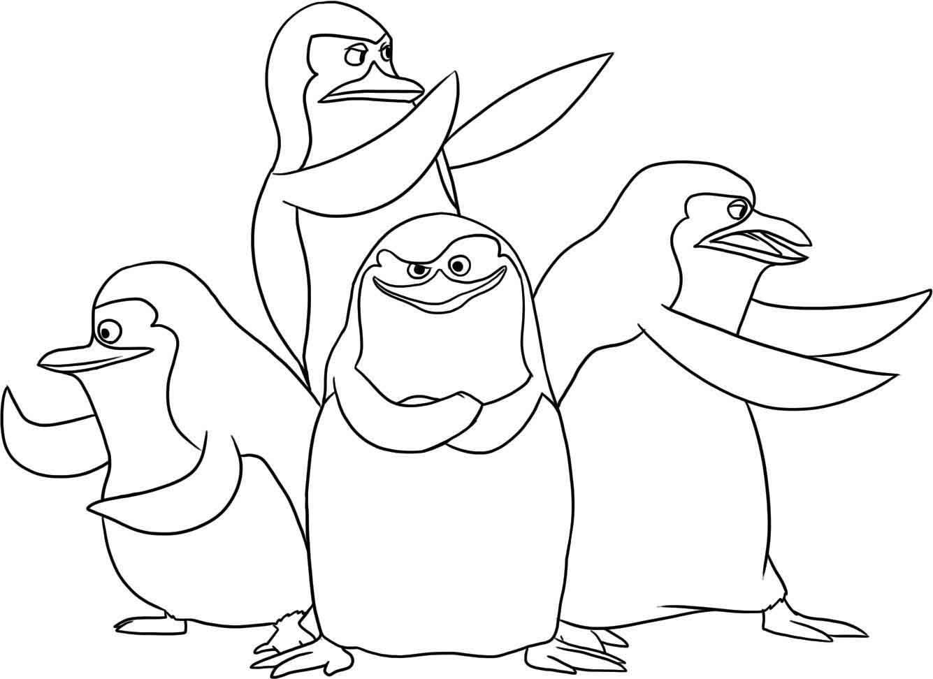 Рисунок пингвины мадагаскара