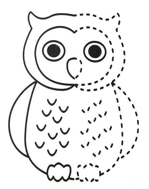 Раскраска Сова - детские раскраски распечатать бесплатно