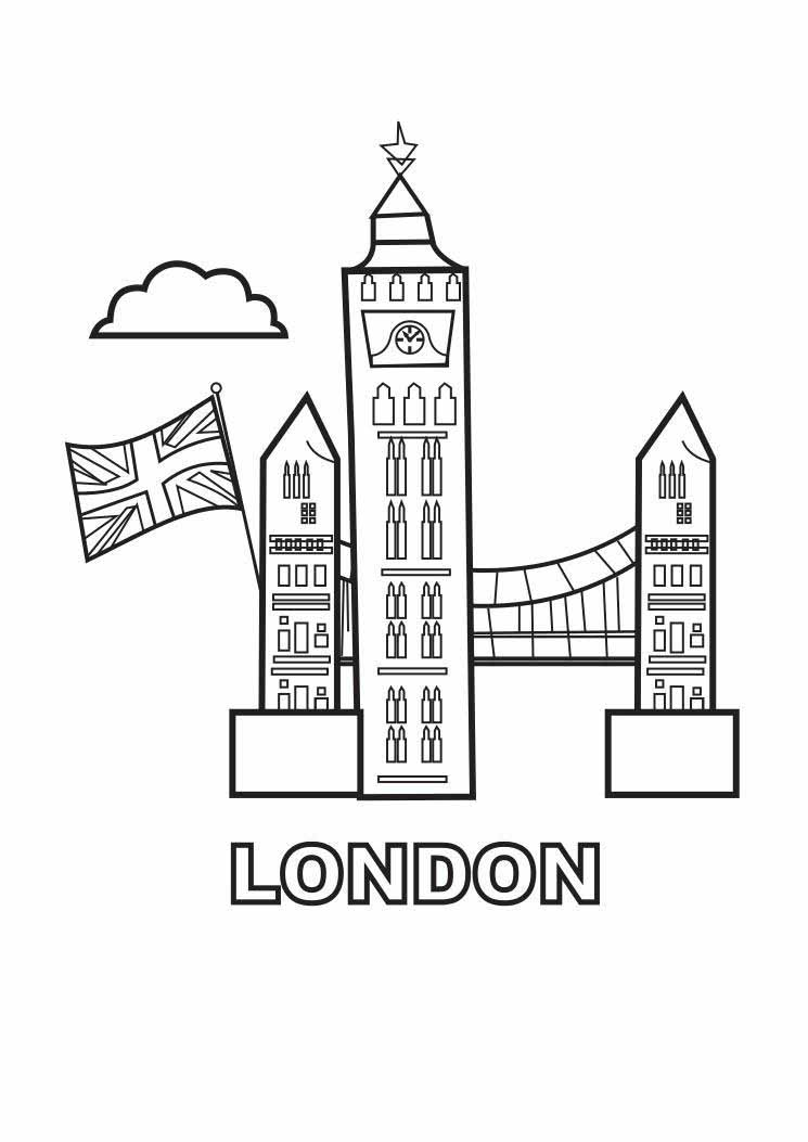 лондон раскраска для малышей этой поэтической
