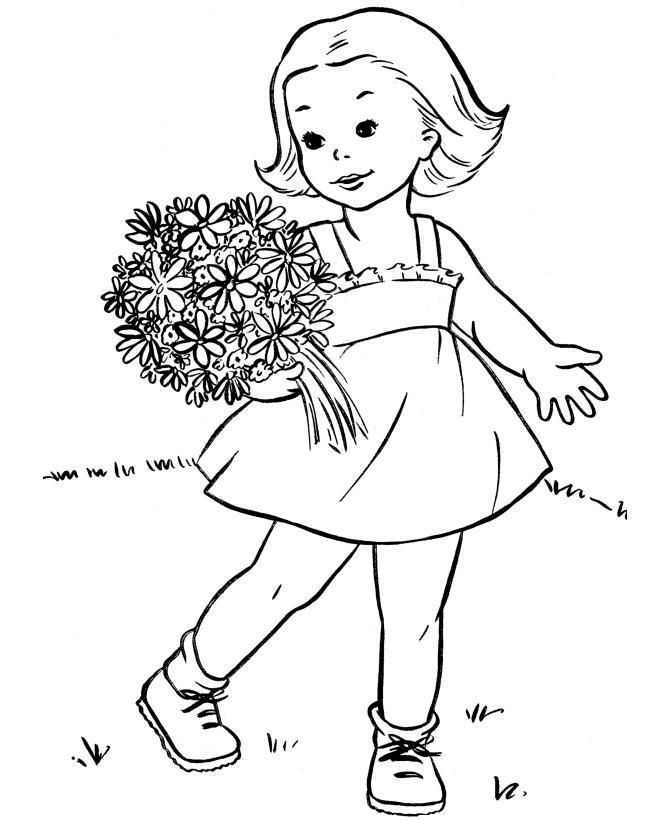 Картинка девочек раскраски
