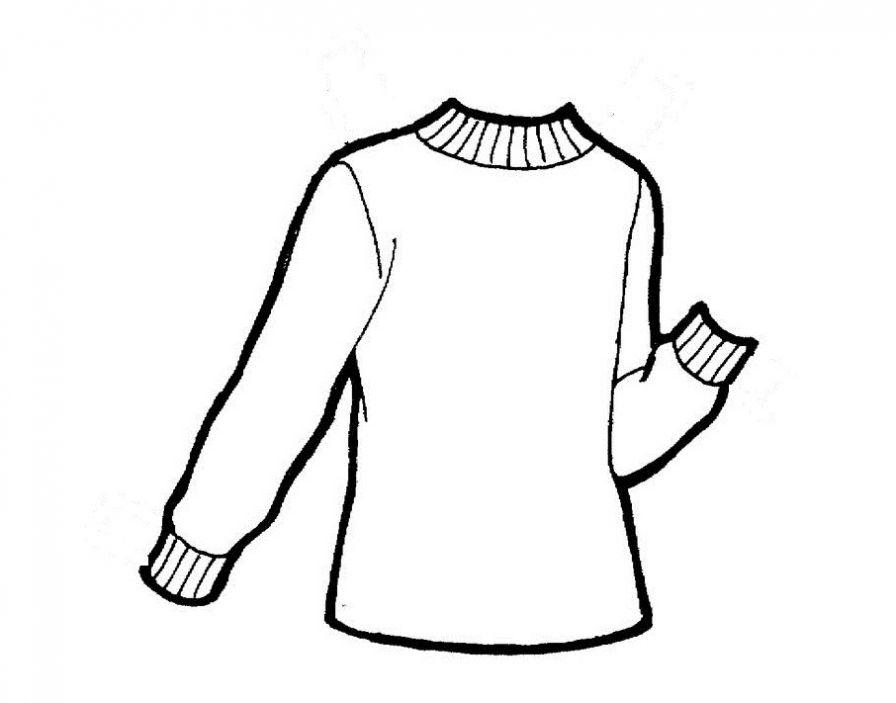 Раскраска свитер для детей