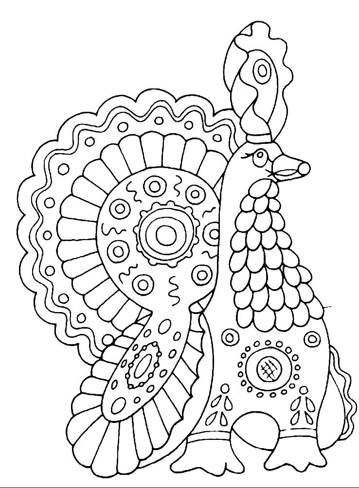 раскраски дымковская игрушка детские раскраски распечатать