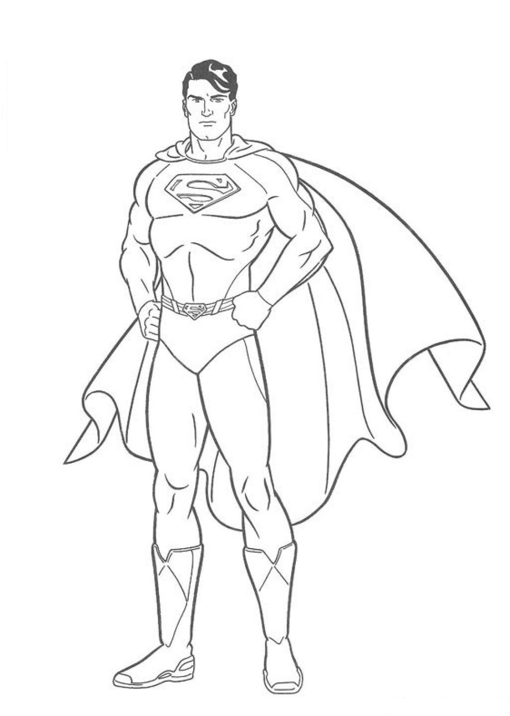Раскраски супермен распечатать бесплатно формат а4
