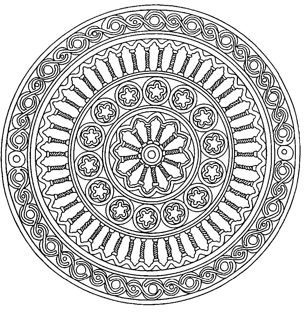 Мандала раскраска в формате а4