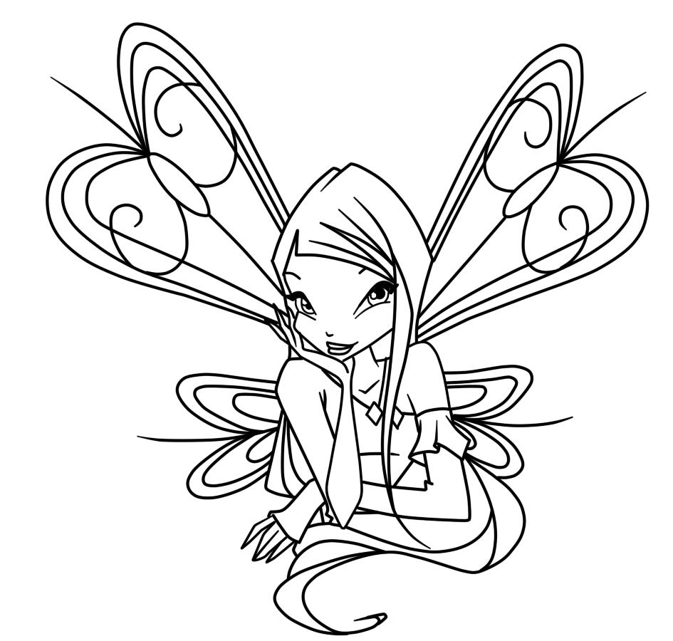 Раскраска для девочек винкс онлайн бесплатно - 3