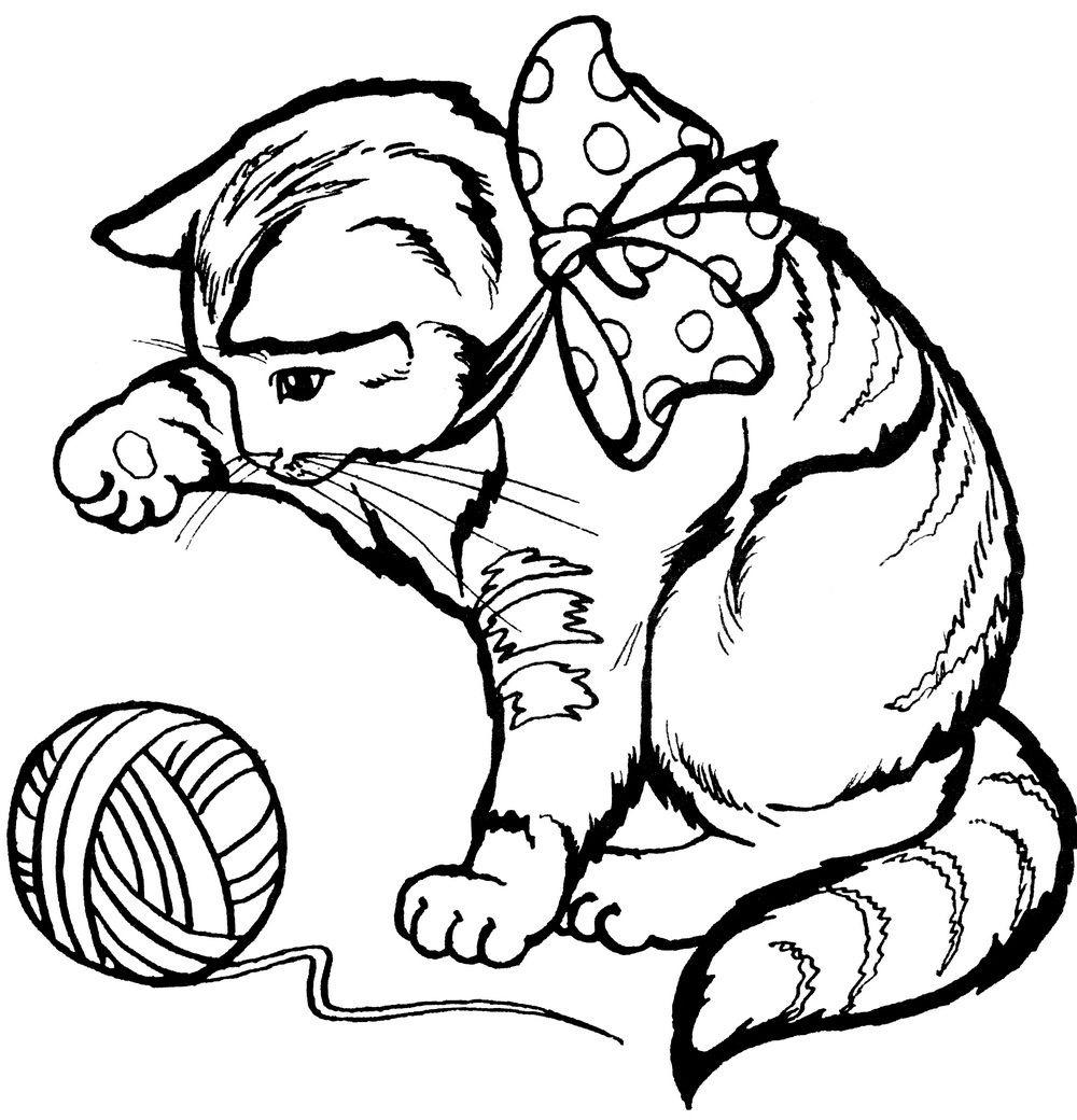 Раскраски Кошки и котята - детские раскраски распечатать ...