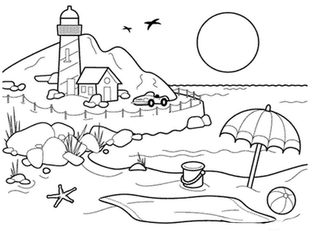 Море картинка раскраска