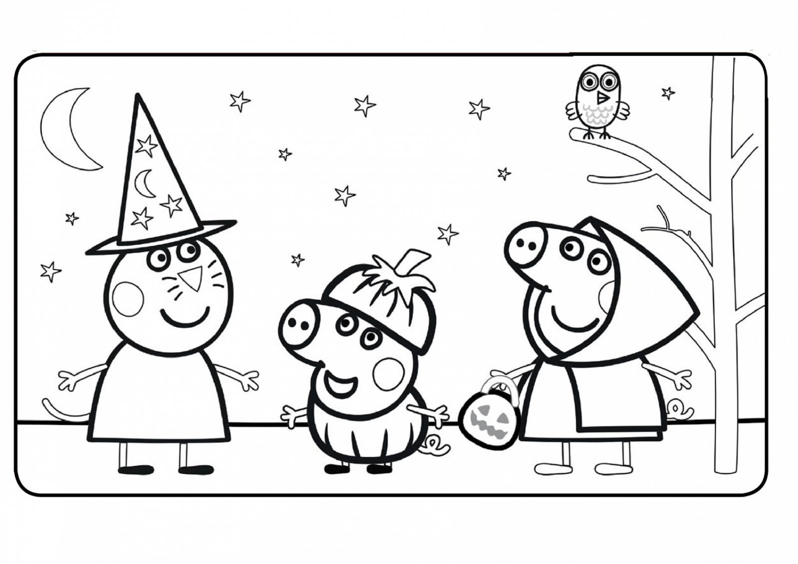 Раскраска Свинка Пеппа - детские раскраски распечатать ...