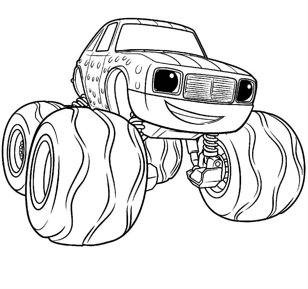 Раскраски для мальчиков машины вспыш