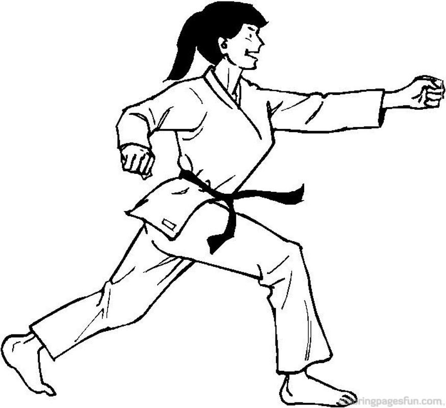 картинки и рисунки про карате пошаговые