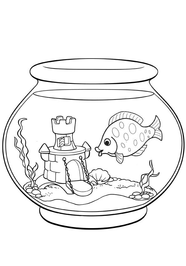 раскраска рыбки в аквариуме детские раскраски распечатать