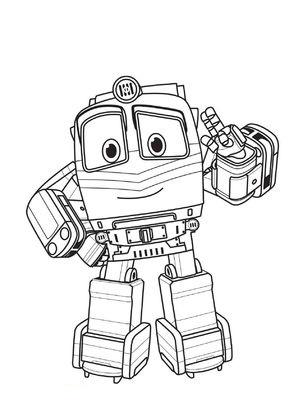 Роботы Картинки Раскраски