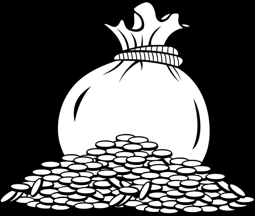 Мешок денег картинки черно белые
