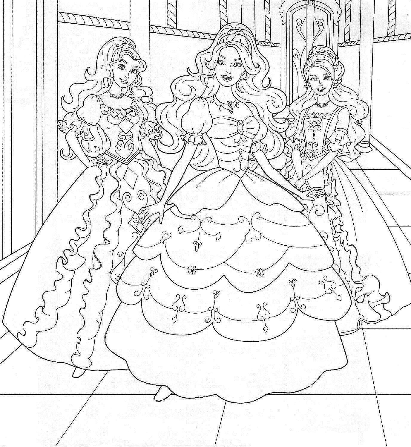 Раскраски Куклы Барби - детские раскраски распечатать ...