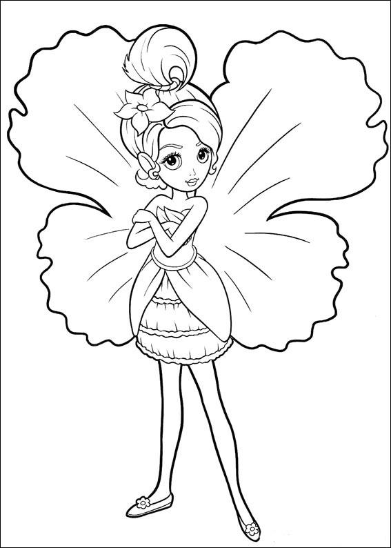 Раскраска Барби Дюймовочка - детские раскраски распечатать ...