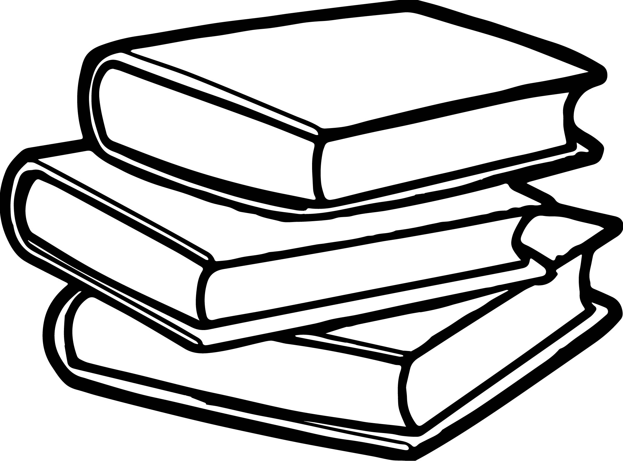 книги в стопке рисунок каждой