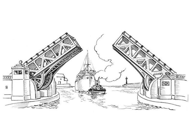 Детские рисунки развод мостов