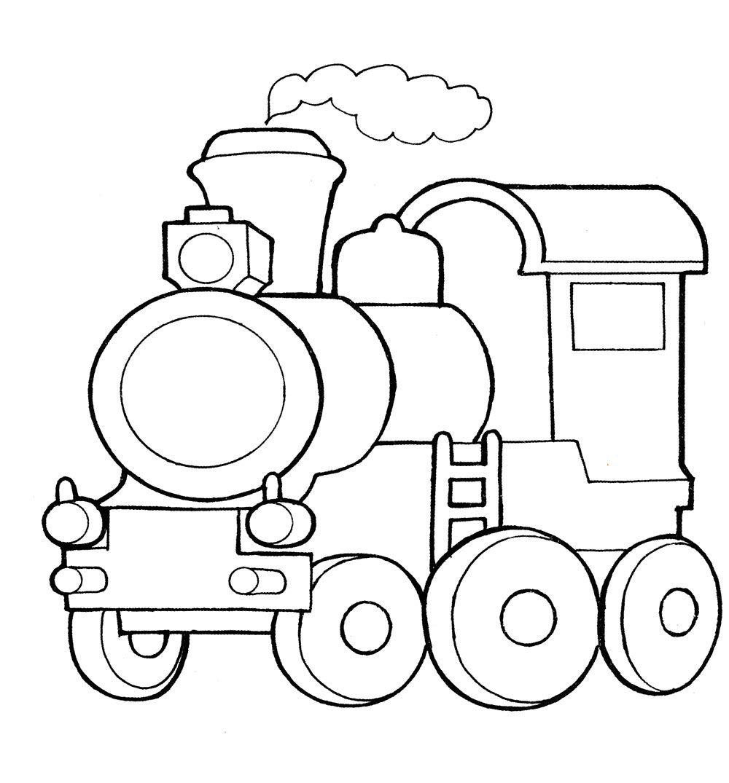 Раскраска Паровоз - детские раскраски распечатать бесплатно