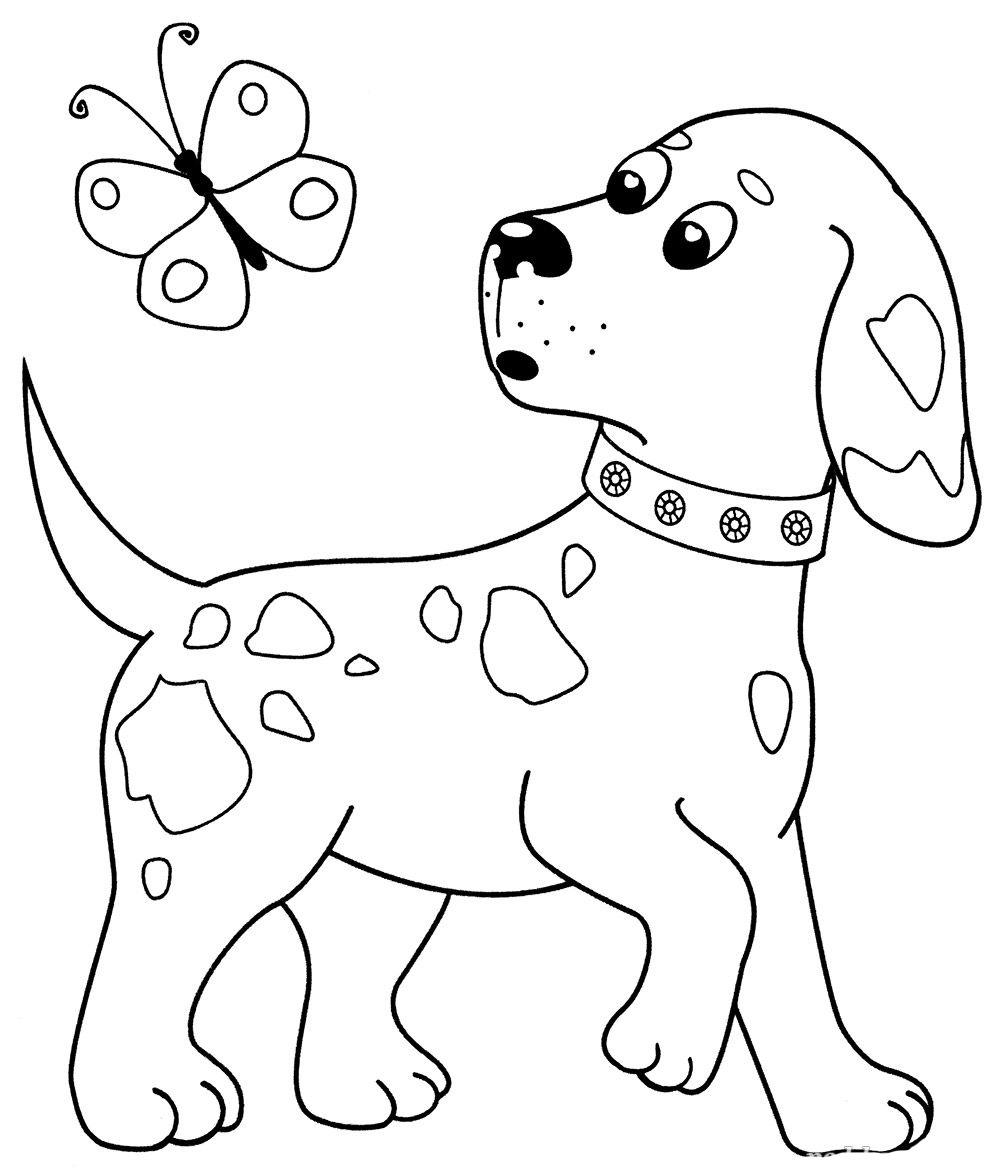 Раскраска Собака - детские раскраски распечатать бесплатно