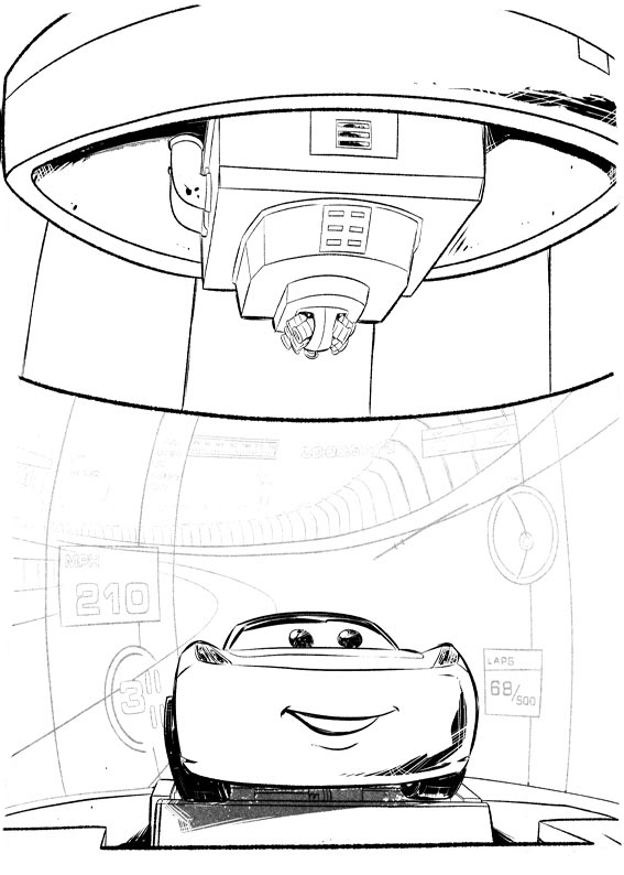 Multiple Car Coloring Pages :