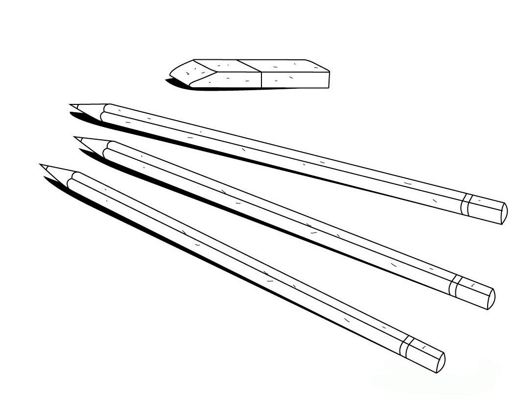 картинка для разукрашивания карандаш время узнать