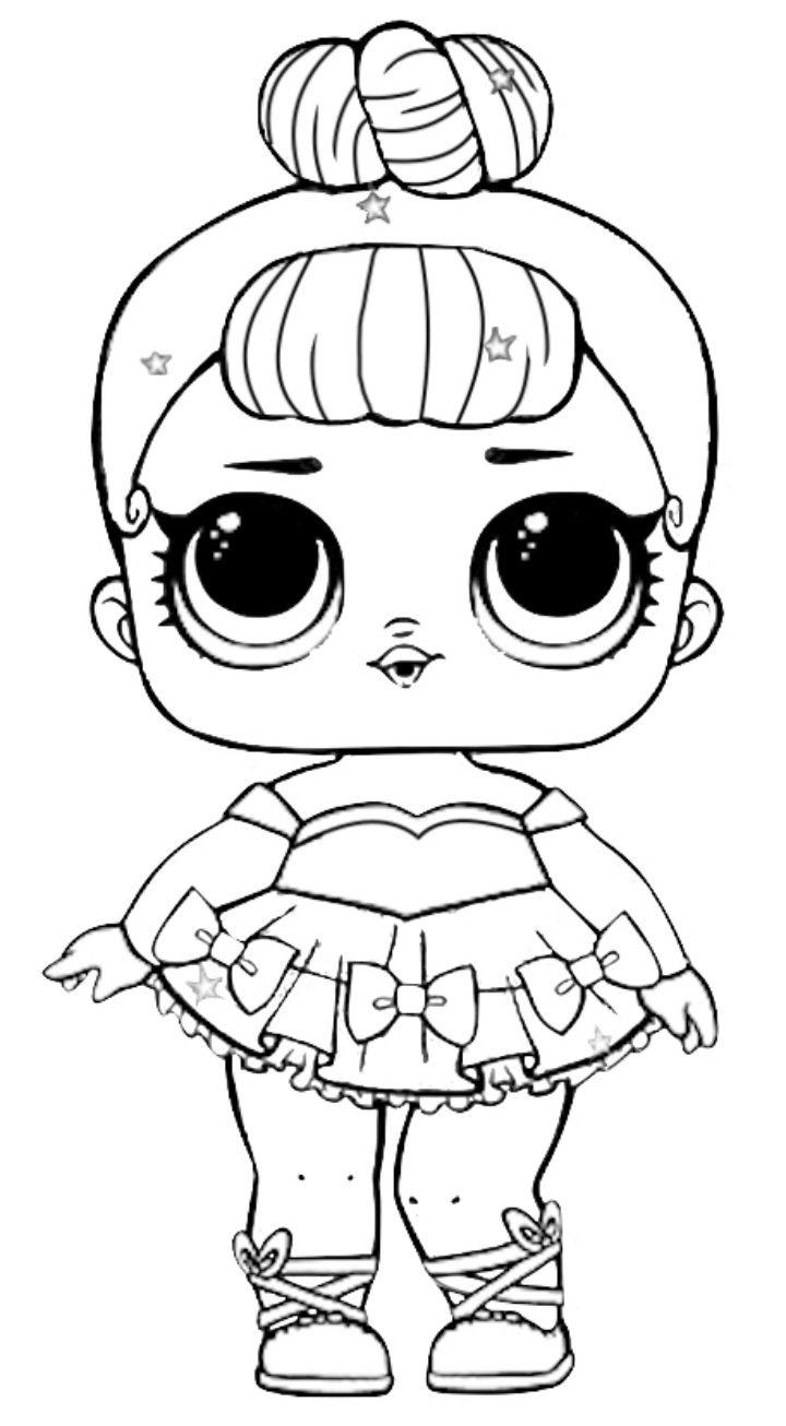 Раскраски Кукла Лол - детские раскраски распечать бесплатно