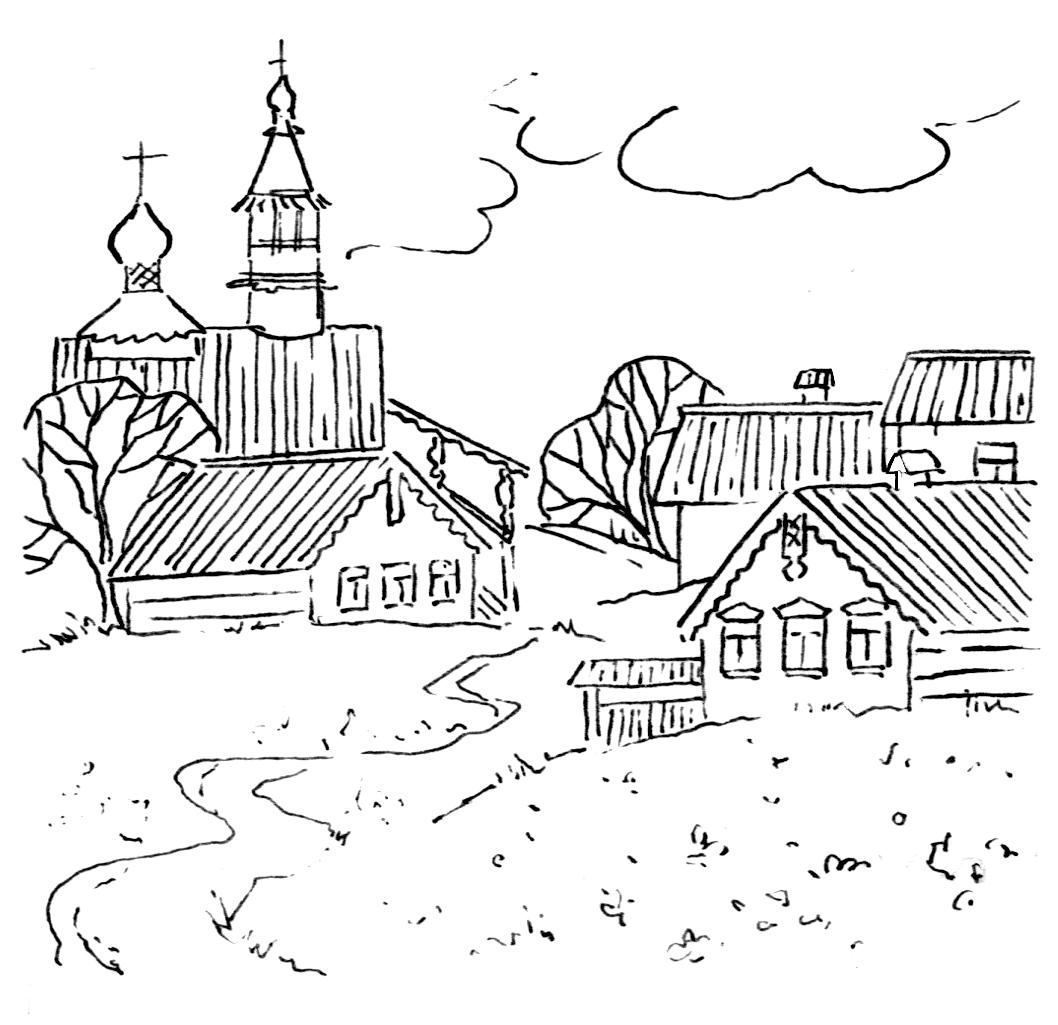 раскраска домик в деревне детские раскраски распечатать