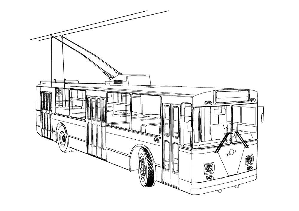 раскраски троллейбус детские раскраски распечать бесплатно