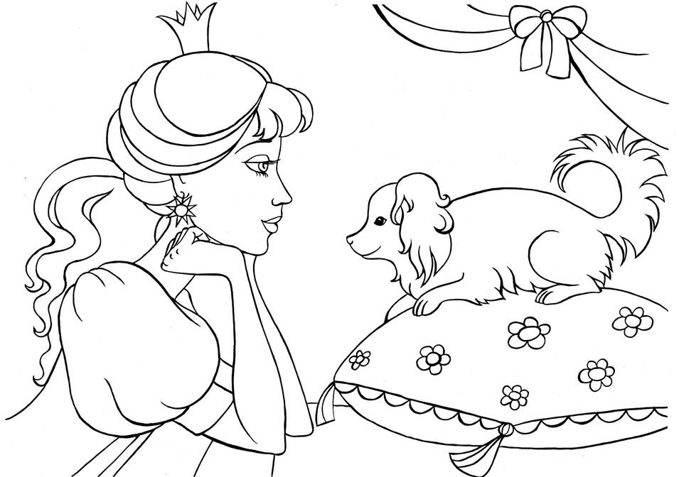 Детские раскраски распечатать принцесса